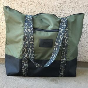 Victoria's Secret PINK Green Camouflage Tote Bag